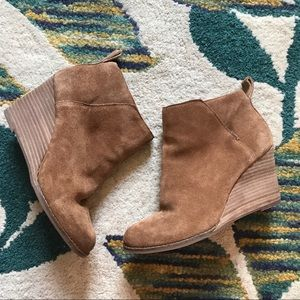 Lucky brand wedge boots